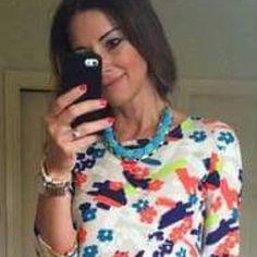 Beautiful Caroline McElroy Stylist wearing 'Blue bead necklace' <3 Doesn't she look stunning? @carolinemcelroystylist #statement #necklace #stunning #musthave #mustbuy #stylewear #stylist Necklace available http://www.stylewear.ie/store/p12/Blue_bead_necklace.html