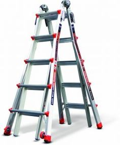 Offer exceptional versatility to your job by using this Little Giant Ladder Systems Alta-One Aluminum Multi-Position Ladder with Type I Duty Rating.