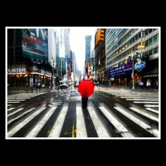 Crosswalk. Broadway and Times Square, NYC.