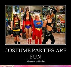 That awkward moment when you've realized no one else really dressed up in costume for the Halloween  party Big Bang Theory