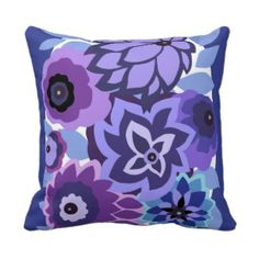 CAMBRIA in Purples and Blues Throw Pillow Made in the US - thousands to choose from www.prettythrowpillows.com #purple #prettythrowpillows #home #decor