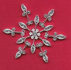 Quilled snowflake by all things paper, via Flickr