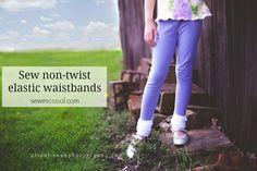 Sew elastic waistbands that will not twist on sewmccool.com