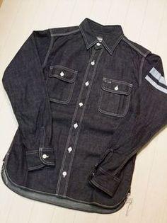 Jeans and casual ROCK   Rakuten Global Market: Momotaro jeans sj091d shield prints into battle 8 oz special dark denim workshirt points 05P17May1305P06may13fs2gm