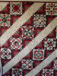 SDC10685 by Jessica's Quilting Studio, via Flickr-love this idea for a log cabin sampler