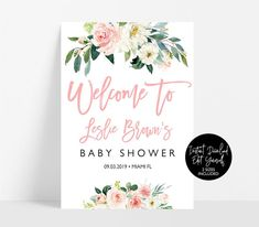 Blush pink Welcome sign,Baby Shower welcome sign,Baby shower welcome,Printable baby shower sign decoration