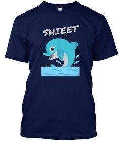 Shieet Navy T-Shirt Front
