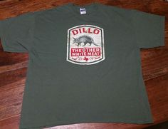 Dillo The Other White Meat T-Shirt tee shirt Men's 2XL Armadillo Military Green #Gildan #GraphicTee