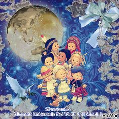 Giornata Universale Dei Diritti dei Bambini Decoupage, Animation, Stickers, Children, Anime, Baby, Holiday Gifts, Moving Pictures, Young Children