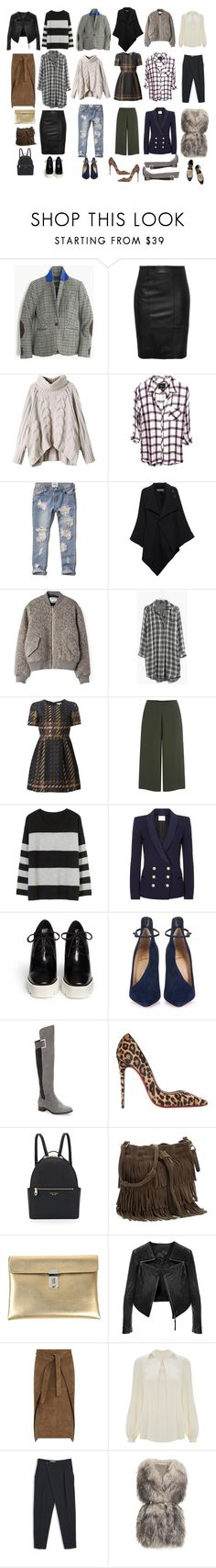 """FALL"" by stephanie-nina ❤ liked on Polyvore featuring J.Crew, Abercrombie & Fitch, Roland Mouret, Acne Studios, Madewell, P.A.R.O.S.H., Cameo, BEA, Pierre Balmain and STELLA McCARTNEY"