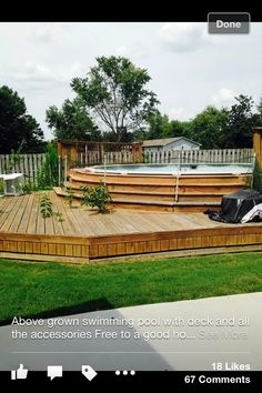 Having a pool sounds awesome especially if you are working with the best backyard pool landscaping ideas there is. How you design a proper backyard with a pool matters. Above Ground Pool Landscaping, Above Ground Pool Decks, Backyard Pool Landscaping, Above Ground Swimming Pools, Backyard Pergola, In Ground Pools, Backyard Ideas, Pergola Ideas, Pergola Roof