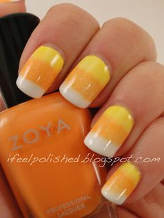 Candy Corn Nails Are The New Ombré .                I Decided!