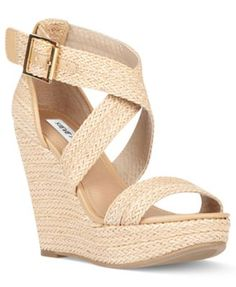 Steve Madden Shoes, Haywire Platform Wedge Sandals Women's Shoes Shoes SHOES