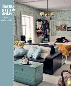 bedroom + living room all together #decor