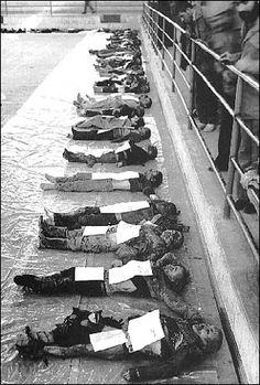 Children killed by missile attack while in school. Iran-Iraq war 1980-88