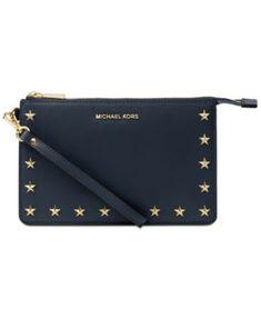 bf922242885c Michael Kors Medium Gusset Wristlet Handbags   Accessories - Macy s