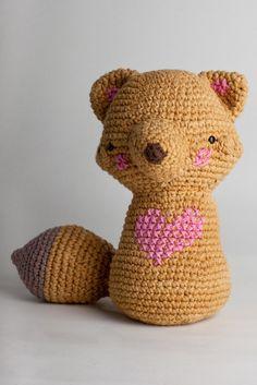 Amgurumi fox pattern-I HEART RAMON. $4.20, via Etsy.