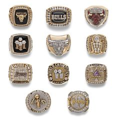 Coach Phil Jackson's 11 NBA Championship rings. He won 6 coaching Michael Jordan & the Chicago Bulls. He later won 5 coaching Kobe Bryant & the Los Angeles Lakers.