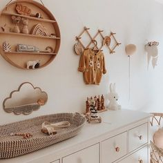 """Interior & Scandinavian Decor: """"How cute is this nursery room by 👈🏻😍 Featuring the Olli Ella Reva Baby Changing Basket, now back in stock 💫 . Baby Nursery Decor, Baby Bedroom, Nursery Neutral, Baby Decor, Nursery Room, Natural Nursery, Boho Nursery, Bambi Nursery, Baby Room Design"""