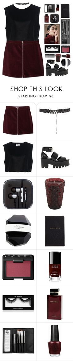 """"""" Reckless behavior. """" by centurythe ❤ liked on Polyvore featuring MANGO, Ava Catherside, Windsor Smith, Pier 1 Imports, Smythson, NARS Cosmetics, Chanel, Inglot, Dolce&Gabbana and Sephora Collection"""