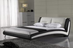 contemporary modern leather bed King size bedroom furniture Made in China