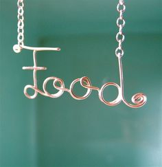 Food Necklace in Sterling Silver. $42.00, via Etsy.
