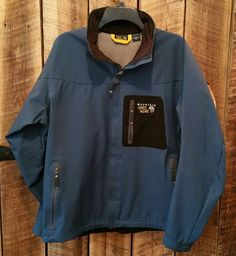 Mountain Hardwear Conduit Soft Shell blue Jacket coat Men Large Climbing hiking  #MountainHardwear #BasicJacket
