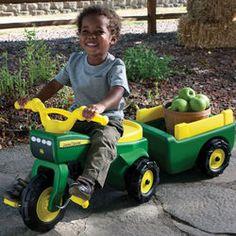 John Deere Trike and Wagon