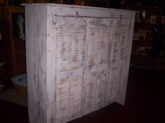 Built this cabinet, using old shutters