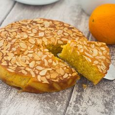 Indulge in this gluten free flourless orange almond cake.