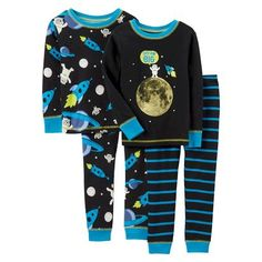 12-18mo PJ's needed bad!! Just One You™Made by Carter's® Infant Toddler Boys' Pajama Set - Black/Blue