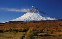 Klyuchevskaya Sopka,aka Kliuchevskoi, is a stratovolcano, the highest mountain on the Kamchatka Peninsula of Russia and the highest active volcano of Eurasia.