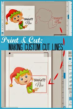 Silhouette School: Print and Cut Tutorial: How to Make a Custom Cut Line Very useful little pin! Silhouette Cutter, Silhouette Curio, Silhouette Vinyl, Silhouette America, Silhouette Portrait, Silhouette Machine, Silhouette Design, Silhouette Cameo Tutorials, Silhouette Projects