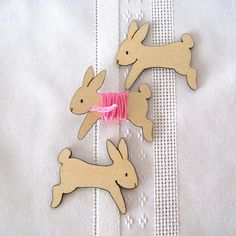 Lovey the Bunny Rabbit Embroidery Floss Holder (Set of 3)