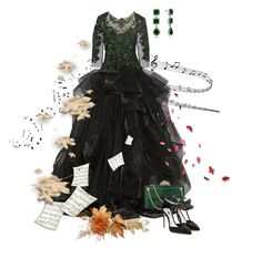 """""""Autumn Concert Outfit"""" by giovanina-001 ❤ liked on Polyvore featuring Marchesa, Charlotte Olympia, Olgana and Bling Jewelry"""