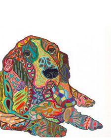 Artist+Brooke+Churchill+uses+a+mosaic+technique+to+create+colorful+pet+portraits.