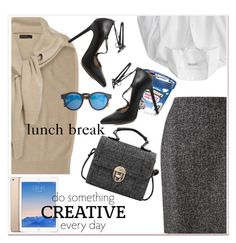 """""""lunch break"""" by paculi ❤ liked on Polyvore featuring Jigsaw, Disney and J.Crew"""