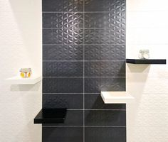 Play with light and shade with Loft Facette series- three dimensional tiles that lend a geometric flair. Loft, Three Dimensional, Living Spaces, Tiles, Cool Stuff, Perth, Wall, Future, Design