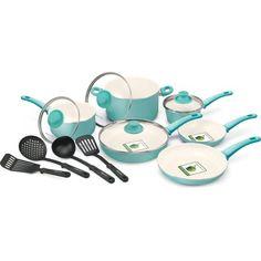 GreenLife Healthy Ceramic Non-Stick 14-Piece Soft Grip Cookware Set - Walmart.com