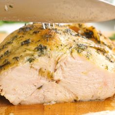 This brined and Slow Cooker Turkey Breast is perfect for a small Thanksgiving or family dinner and the easiest way to make a juicy turkey with minimal prep and flavors of garlic, onion, and herbs. Meat Recipes, Slow Cooker Recipes, Cooking Recipes, Healthy Recipes, Dip Recipes, Slow Cooker Recipe Videos, Slow Cooker Meal Prep, Wild Turkey Recipes, Sausage Recipes