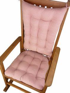 Custom Giraffe Print Rocking Chair Cushions by MayberryandMain