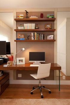 Office Interior Design, Home Office Decor, Office Interiors, Office Ideas, Small Rooms, Small Spaces, Decora Home, Trendy Home, Decorating Your Home