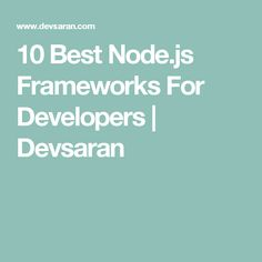 Mastering Node Open Source Nodejs Ebook Nodejs Pinterest