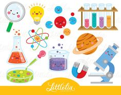 Science kawaii clipart Scientist clipart 16035