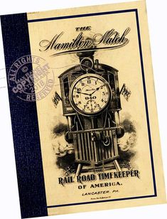 c206d431da6 Hamilton Watch Co 1912 CATALOG Pocket Watches Rail Road Timekeeper models  styles