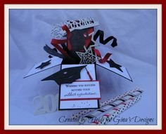 Graduation Pop Up Box by Scraphappily - Cards and Paper Crafts at Splitcoaststampers
