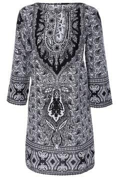$17.29 Paisley Print Shift Dress