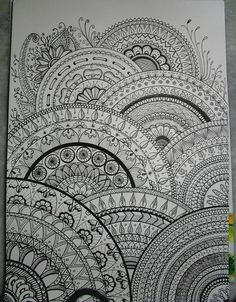 my drawings inspired zentangle® by Ariane Naranjo, via Flickr
