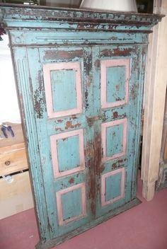 Antique DECORATIVE PAINTED DOORS C.1900