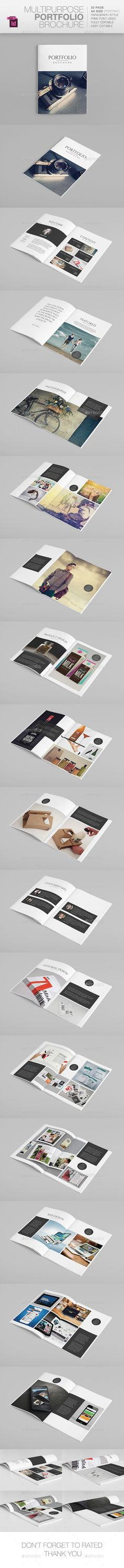 Multipurpose A5 Portfolio  —  InDesign Template • Only available here! →…